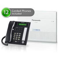 """Panasonic KX-TA824-8CO 12 pack KX-TA824 Phone System + KX-TA82483 Exp. Card +  KX-TA82481 Exp Card + KX-T7731 Corded Phones"""