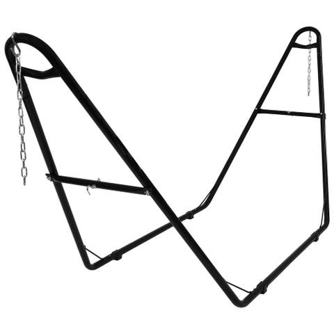 Sunnydaze Hammock Stand Steel with Black Finish Heavy-Duty Universal Multi-Use