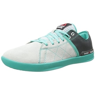 Reebok Womens Colorblocked Suede Running, Cross Training Shoes