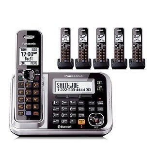 Panasonic KX-TG7876S (KX-TG7875S + 1 KX-TGA680S) 1.9GHz Cordless DECT 6.0 Phone System