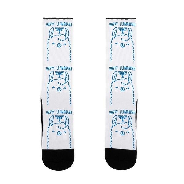 Happy Llamakkah US Size 7-13 Socks by LookHUMAN