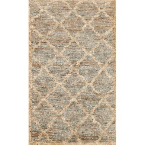 """Trellis Contemporary Moroccan Oriental Area Rug Hand-knotted Carpet - 2'11"""" x 4'10"""""""