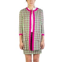 Miu Miu Women's Cotton Blend Tweed Coat Green