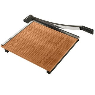 X-ACTO Commercial Grade High Use Medium Duty Self-Sharpening Steel Wood Base Paper Cutter - 15 Sheet, 18 X 18 in Cut, 3/4 in