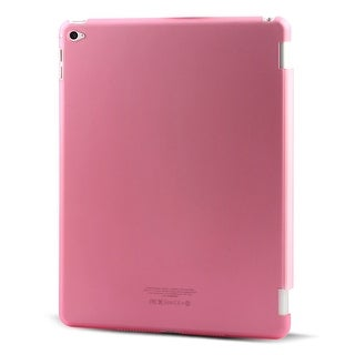 Unique BargainsFuchsia Plastic Back Protector Frosted Shell Case Sleeve Cover for iPad Air 2