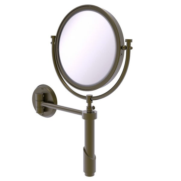Allied Brass Tribecca Collection Wall Mounted Make-Up Mirror 8-in Diameter with 5X Magnification