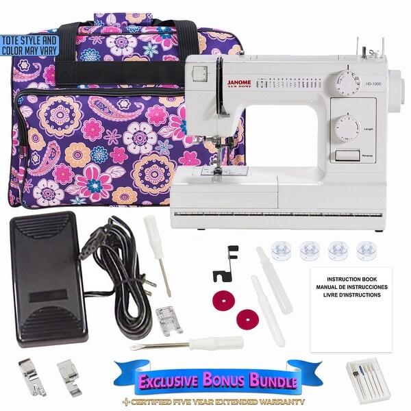 Janome HD1000 Sewing Machine with Exclusive Bonus Bundle