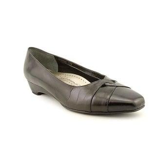 Mark Lemp By Walking Cradles Beauty Women 4A Open Toe Leather Black Wedge Heel