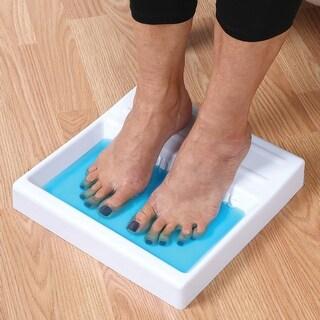 Toe and Nail Antifungal Shallow Foot Soaking Tray with 2 oz. Funga Soap Set - WHITE