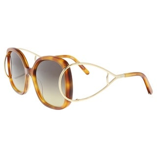 Chloe CE702S 725 Blonde Havana Modified Rectangle Sunglasses - 56-18-135