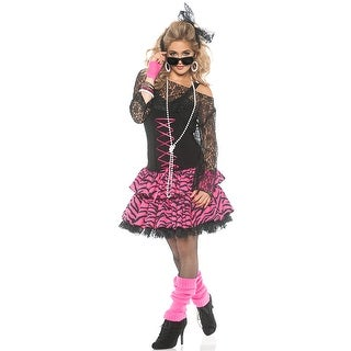 Underwraps Flashback Adult Costume - Black/Pink