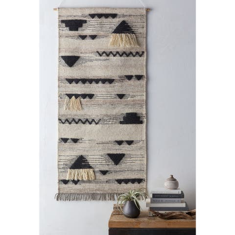 """Olympos Taupe 30"""" x 60"""" Traditional Decorative Tapestry"""