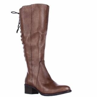 Steve Madden Laceup Western Boots - Cognac