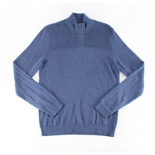 Alfani Lake Heather Blue Mens Size XL Pullover 1/2 Zip Sweater
