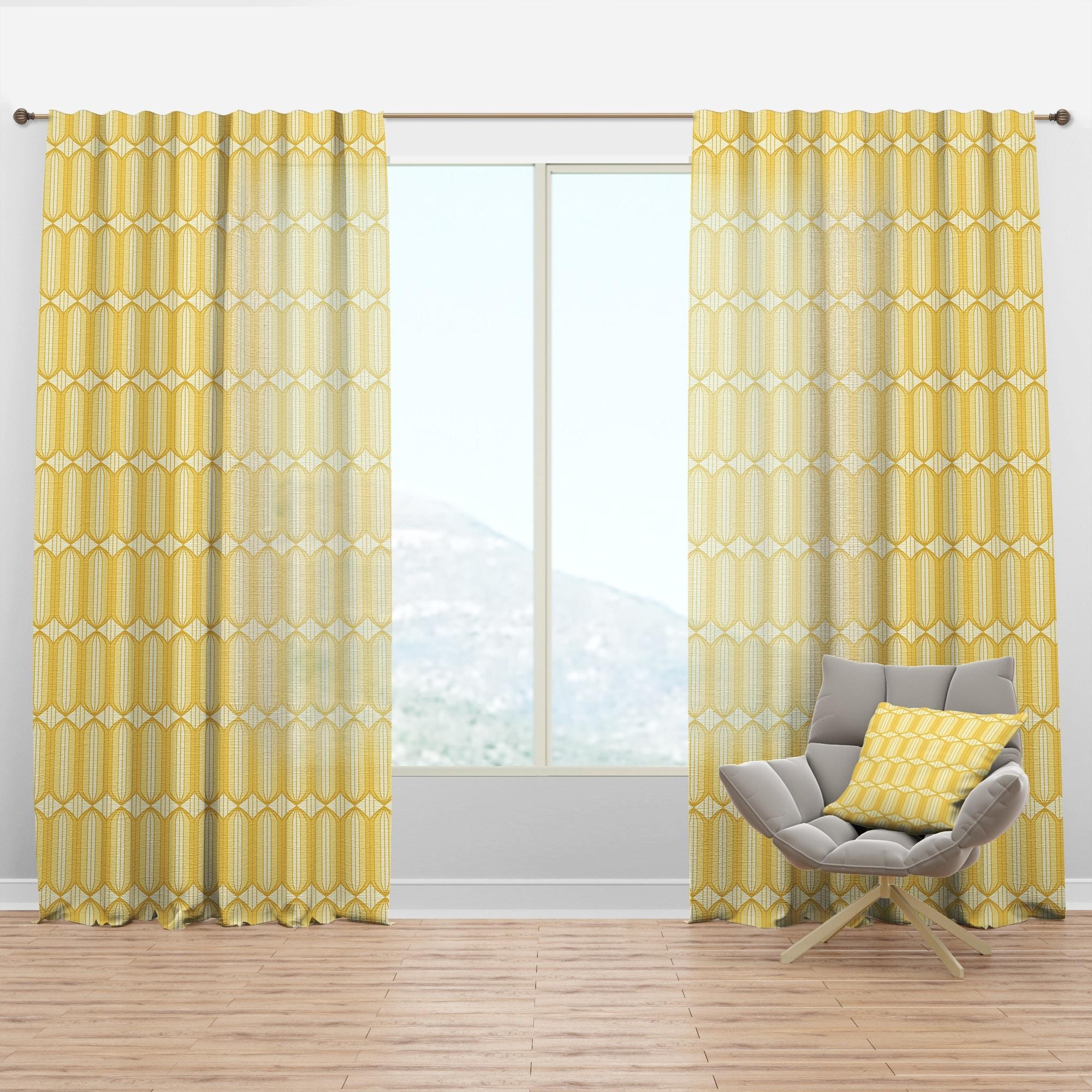 Designart Retro Ornamental Design Iii Mid Century Modern Curtain Panel Overstock 29626191