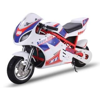 MotoTec 48v 1000w Superbike White