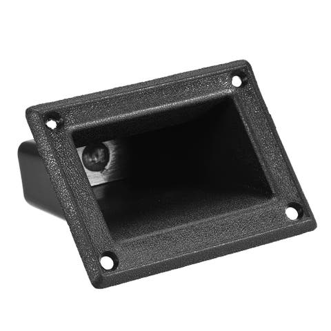 Recessed Speaker Handle Grasp Pocket Style for PA/DJ Speaker Cabinet Box - Black