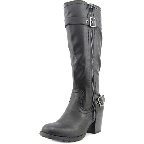 White Mountain Dover Women Round Toe Synthetic Black Knee High Boot