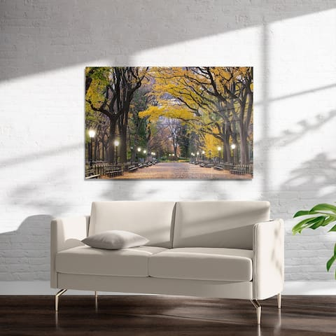 POET'S WALK CENTRAL PARK Art on Acrylic by Kavka Designs