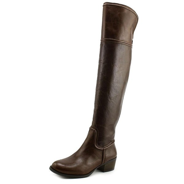 Vince Camuto Baldwin Women Round Toe Leather Brown Over the Knee Boot