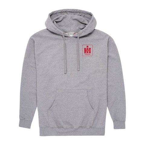 IH Tractors And Combines Hydrostatic - Men's Pullover Hoodie - Heather Gunmetal