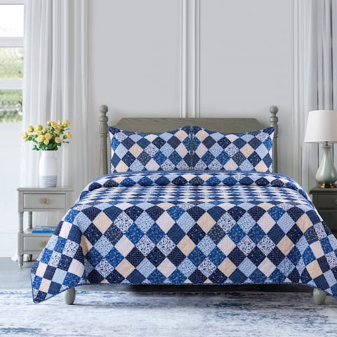 Country Living Olivia Patchwork Quilt Set