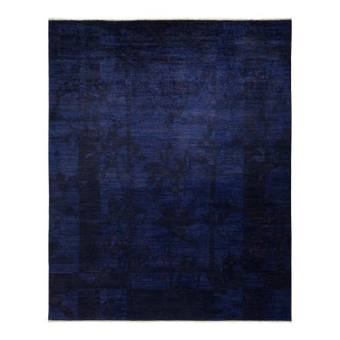 """Vibrance, One-of-a-Kind Hand-Knotted Area Rug - Purple, 8' 0"""" x 9' 10"""" - 8' 0"""" x 9' 10"""""""