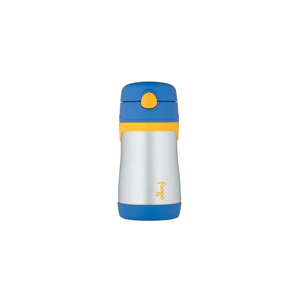 thermos 40677M Thermos FOOGO Phases Stainless Steel Straw Bottle, Blue/Yellow, 10 Ounce