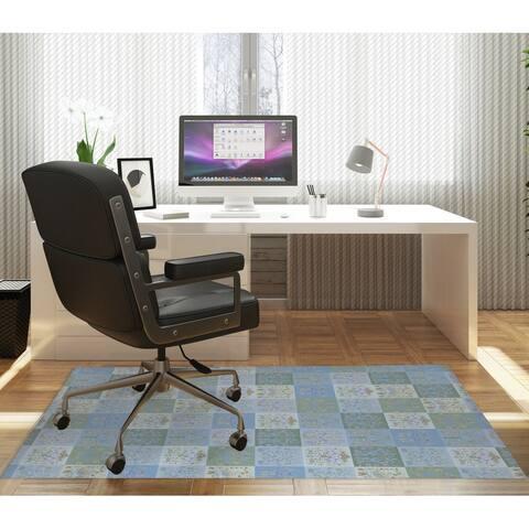 SCANDINAVIAN PATCHWORK PASTEL Office Mat By Kavka Designs