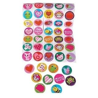"5 Rolls Valentine 100 Stickers Per Roll 500 Stickers Total Approx. 1.5"""