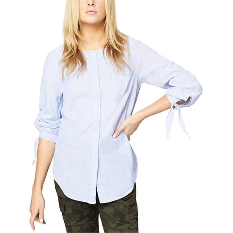Sanctuary Clothing Womens Tie Sleeve Button Up Shirt