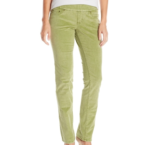 04fc96e20f709 Shop Jag NEW Green Women 14 Pull-On High Rise Straight Leg Corduroys ...