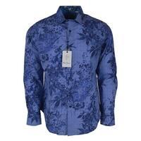 Robert Graham ROWE Skull Cuffs Leaf Print Button Down Sport Shirt