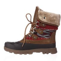 Bare Traps Womens Yaegar Fabric Round Toe Ankle Cold Weather Boots