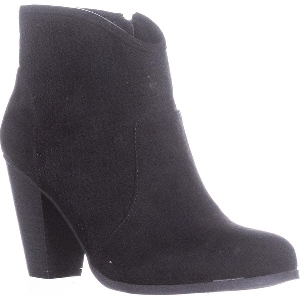 Style & Co. Aria Western Ankle Boots, Black, 8.5 US, Black - 8.5 us