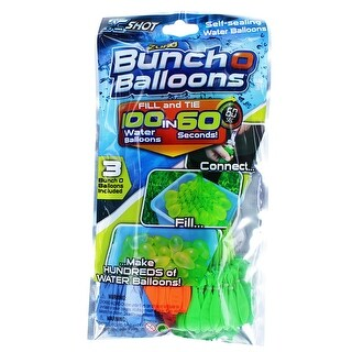 Bunch O Balloons: Blue, Orange & Green 3-Pack, 100 Balloons Total