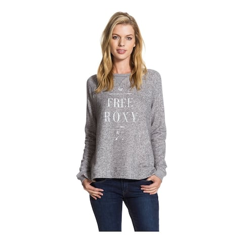 Roxy Womens Believe You Sweatshirt, Grey, Medium