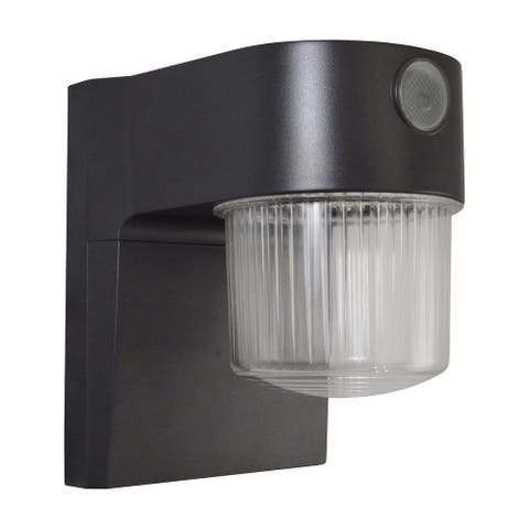 "700 Lumen LED Dusk to Dawn Security Light - Bronze - 5.75"" D x 4.5"" W x 6.25"" H - 5.75"" D x 4.5"" W x 6.25"" H"