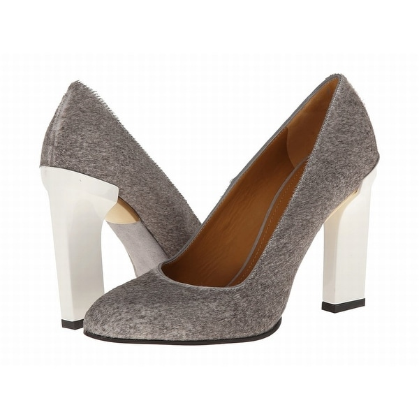 Calvin Klein Collection Gray Shoes 10 Pumps Classics Leather