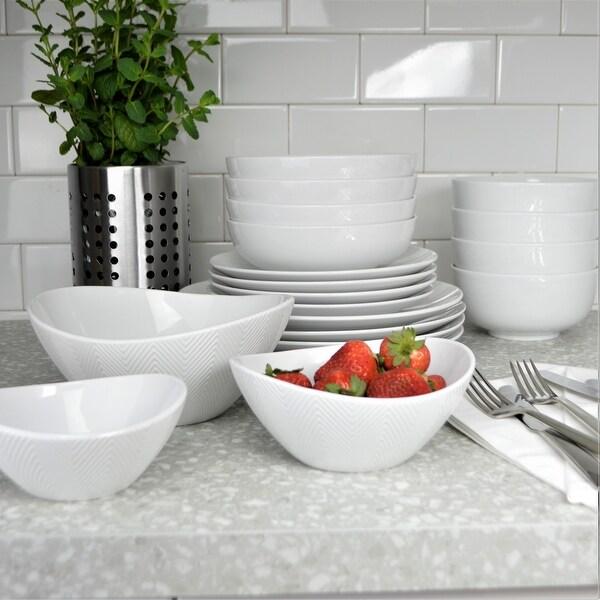 Euro Ceramica Highlands Porcelain Serving Bowls (Set of 3). Opens flyout.