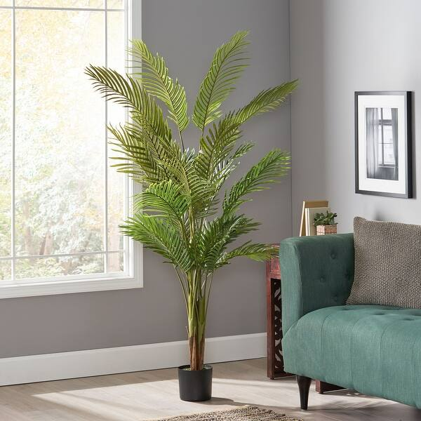 slide 1 of 11, Malheur Artificial Tabletop Palm Tree by Christopher Knight Home