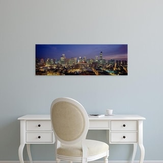 Easy Art Prints Panoramic Images's 'High Angle View Of Buildings Lit Up At Dusk, Chicago, Illinois, USA' Canvas Art
