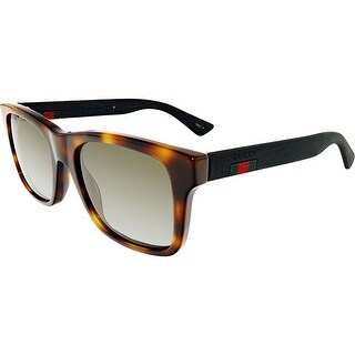 Gucci Anti-reflective GG0008S-006-53 Black Square Sunglasses