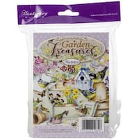 Hunkydory The Little Book Of A6 Paper Pad 144/Pkg-Garden Treasures, 24 Designs/6 Each