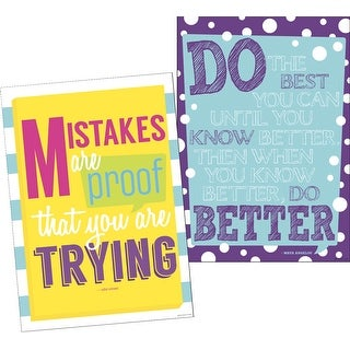 Barker Creek Keep Trying Posters, Set of 2