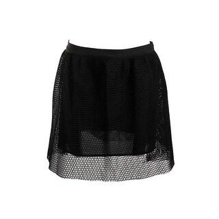JOA Womens A-Line Skirt Mesh Above Knee - L