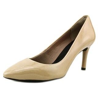 Unisa Beige patent leather heels - Vestis   Second Hand