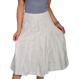 Scully Western Skirt Womens A-Line Crochet Panel Midi Skirt