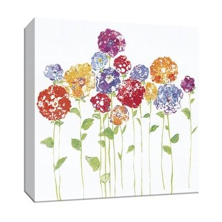 "PTM Images 9-147191  PTM Canvas Collection 12"" x 12"" - ""Pretty Posies II"" Giclee Flowers Art Print on Canvas"