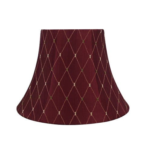 "Aspen Creative Bell Shaped Spider Construction Lamp Shade in Burgundy (7"" x 13"" x 9 1/2"")"